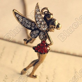 Discount China china wholesale Retro Vintage Peter Pan Fairy With Diamond Beautiful Pendant Necklace Chain...    http://dealingwithstressandanxiety.net/