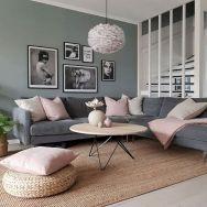 33 Schöne graue Wohnzimmerdekorationen