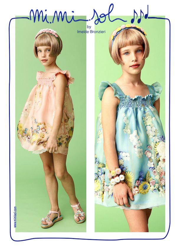 Pink or blue? Blue or pink? Fortunately, spring hasn't arrived yet but it's a difficult choice. Which do you prefer?  Rosa o azzurro? Azzurro o rosa? Per fortuna la primavera non è ancora arrivata......ma che scelta difficile. Tu quale preferisci? #MiMiSol #Imeldebronzieri #PE2014 #SS2014 #children's collection