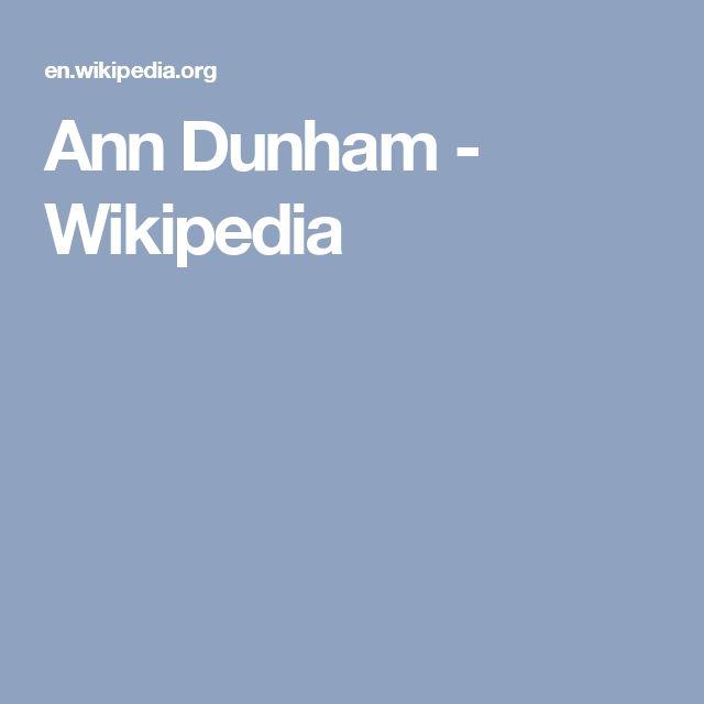 Ann Dunham - Wikipedia