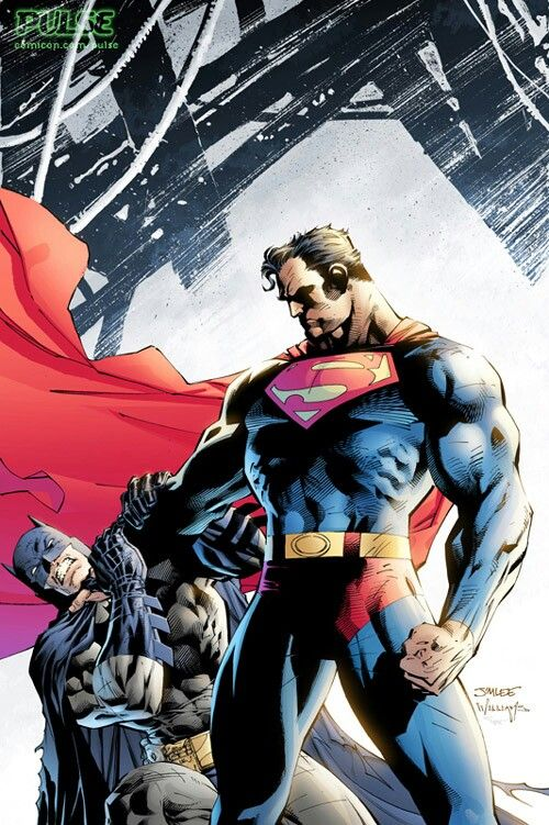 Jim Lee Batman And Superman Artwork