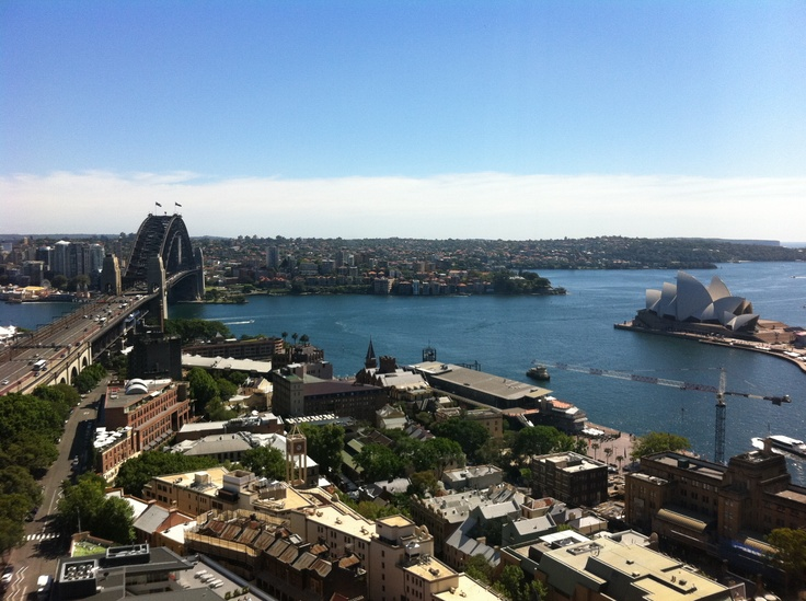 View from our hotel room - Sydney Harbour