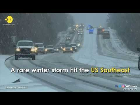 WION: 'Bombogenesis' takes aim at US Northeast as snow sweeps South'Bombogenesis' takes aim at US Northeast as snow sweeps South