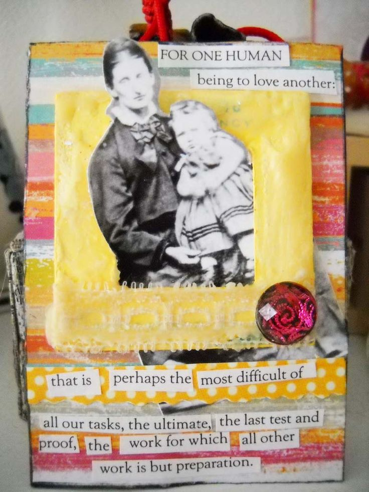 """#ATC (mixed media card) """"To Love Another"""""""