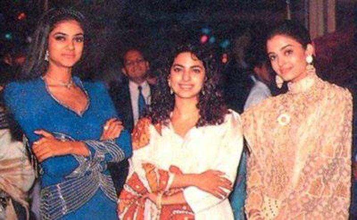 Rare photos of Aishwarya Rai with sushmitha sen and Juhi Chawla