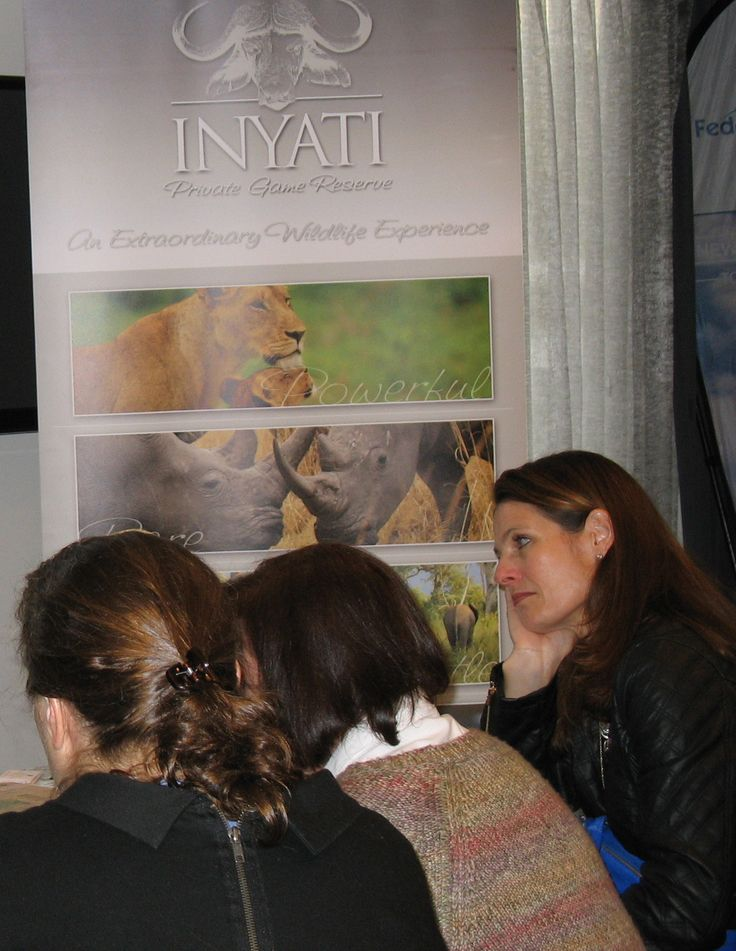 Inyati Game Lodge table at our Cape Town Workshop for Travel Agents / Tour Operators on 22 July 2014