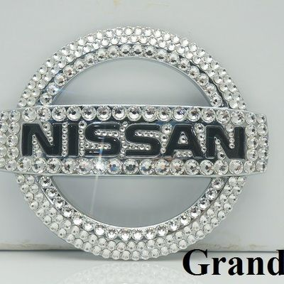 Custom handmade Nissan Emblem with Swarovski Elements