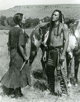 Raquel Welch and Nick Mancuso in The Legend of Walks Far Woman 1982