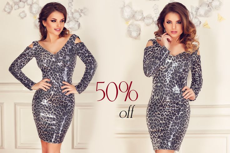 Short evening dress made from silver sequins with animal print pattern: https://missgrey.org/en/dresses/short-evening-dress-made-from-sequins-in-silver-and-black-hues-shine/463?utm_campaign=ianuarie&utm_medium=rochie_shine_reducere&utm_source=pinterest_produs