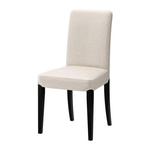 HENRIKSDAL Chair, brown-black, Linneryd natural Linneryd natural brown-black -