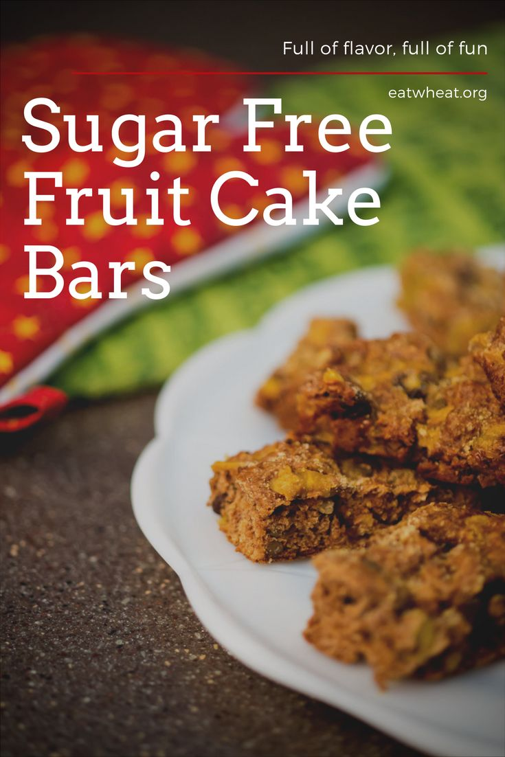 These sugar-free fruit cake bars are a healthy alternative cookie for diabetics or children who need a little less sugar in their holiday snacks.