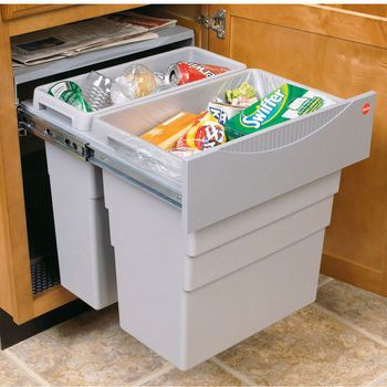 Hafele Easy Cargo 50inch Double Built In Pull Out Waste
