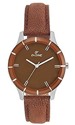 Dezine Analogue Brown Dial Womens Watch -DZ-LR064-BRW-BRW @ Rs.249
