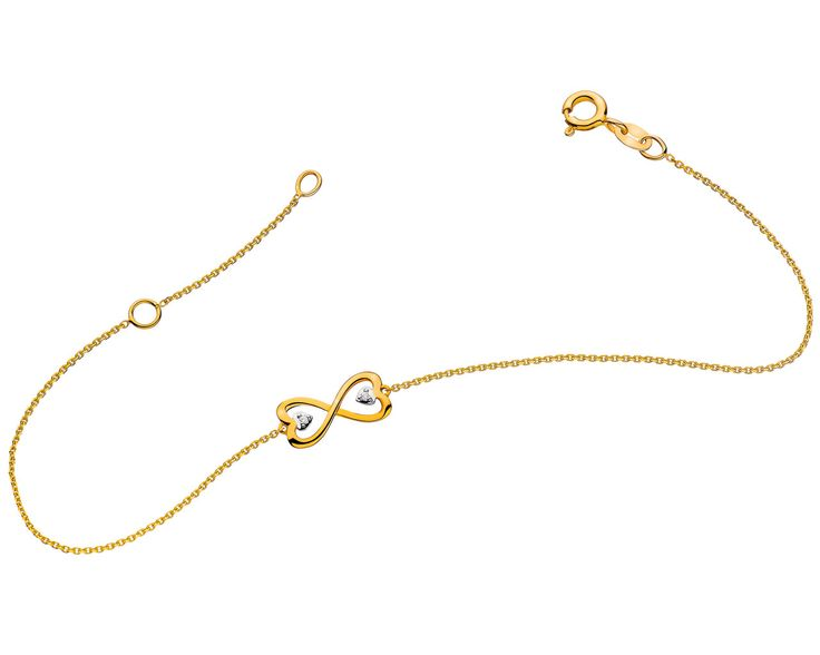 Bransoleta z żółtego złota z diamentami   Apart