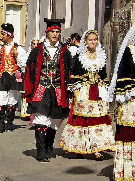 Cagliari Costume from Quartucciu
