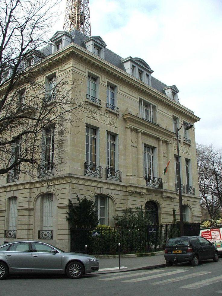 Paris 7e - Rue du Général-Lambert - Ambassade de l'Inde à Paris.