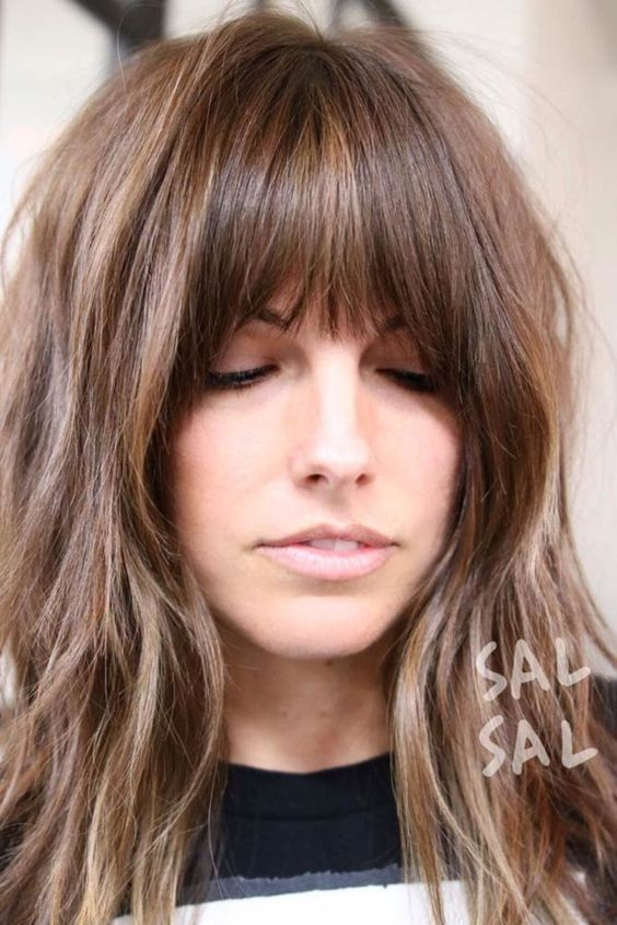 style cut for long hair medium length hairstyles with bangs hair 8148 | b2de0276fc9512b7b294d16c579c5d00