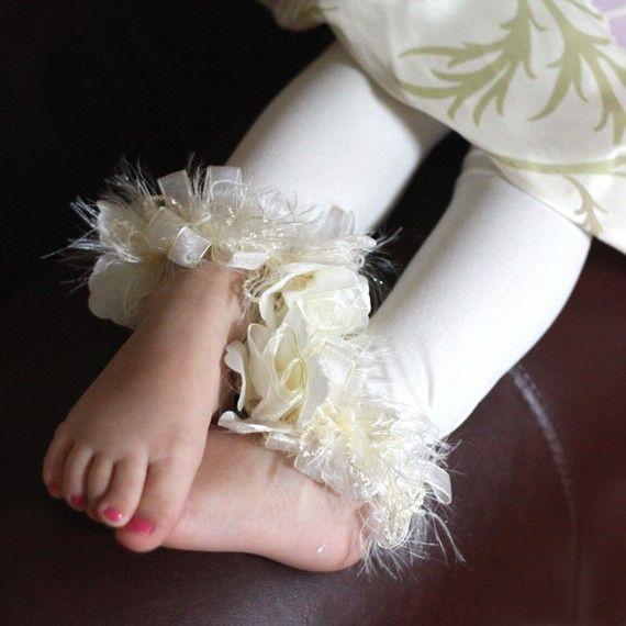 PoshPipsqueak Ivory toddler leggings