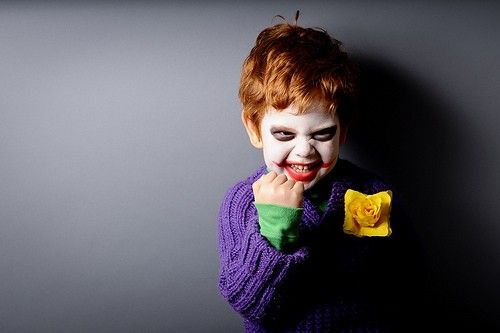 Tiny Joker. This child is never going to get to decide what he wants to be for Halloween. I'm going to have it all planned out for him.