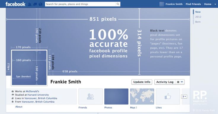 Facebook banner dimensions. Screen Resolution - 72dpi.