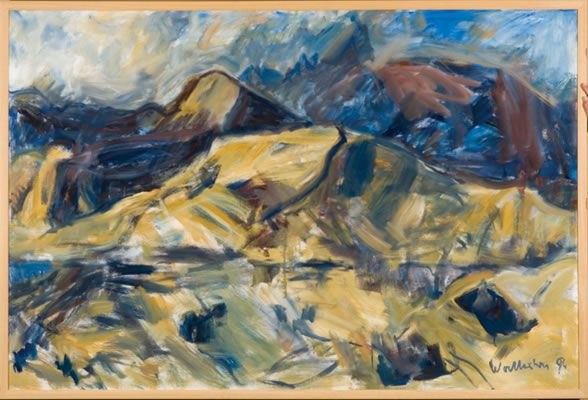 Toss Woollaston Nelson Landscape  1994 Oil on canvas