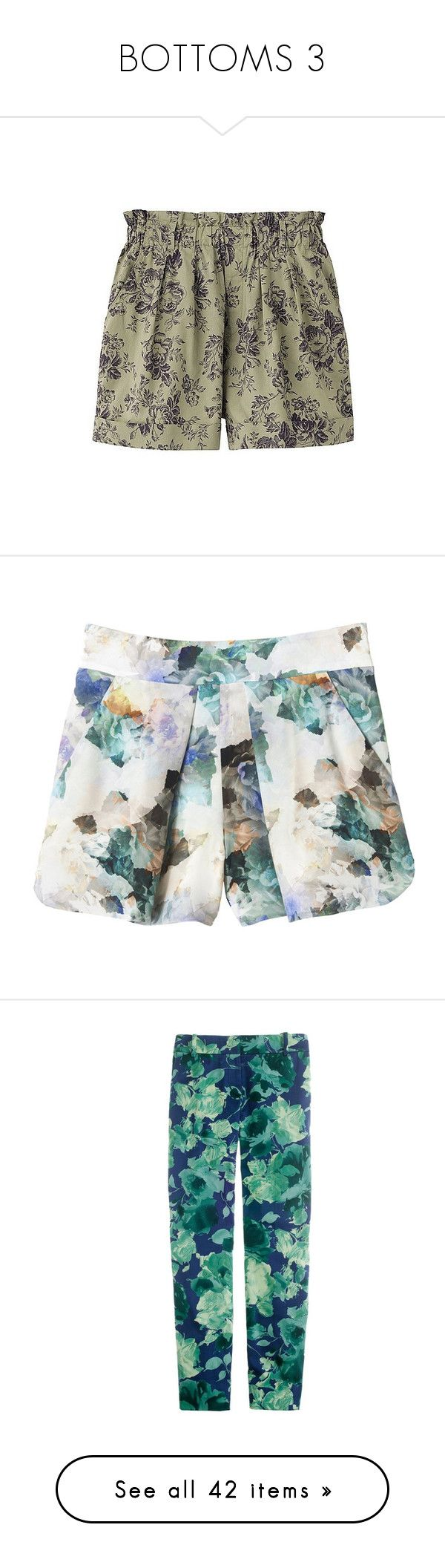 """BOTTOMS 3"" by littlewhitedaisy ❤ liked on Polyvore featuring shorts, bottoms, shorts/pants, uniqlo shorts, vintage shorts, flared shorts, flare shorts, uniqlo, skirts and pants"