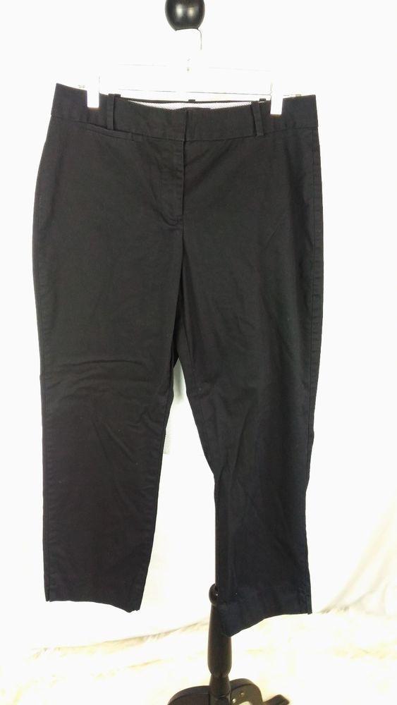 Talbots Women's 8 Curvy Black Cropped Cotton Spandex Pants A01-26 #Talbots #CaprisCropped