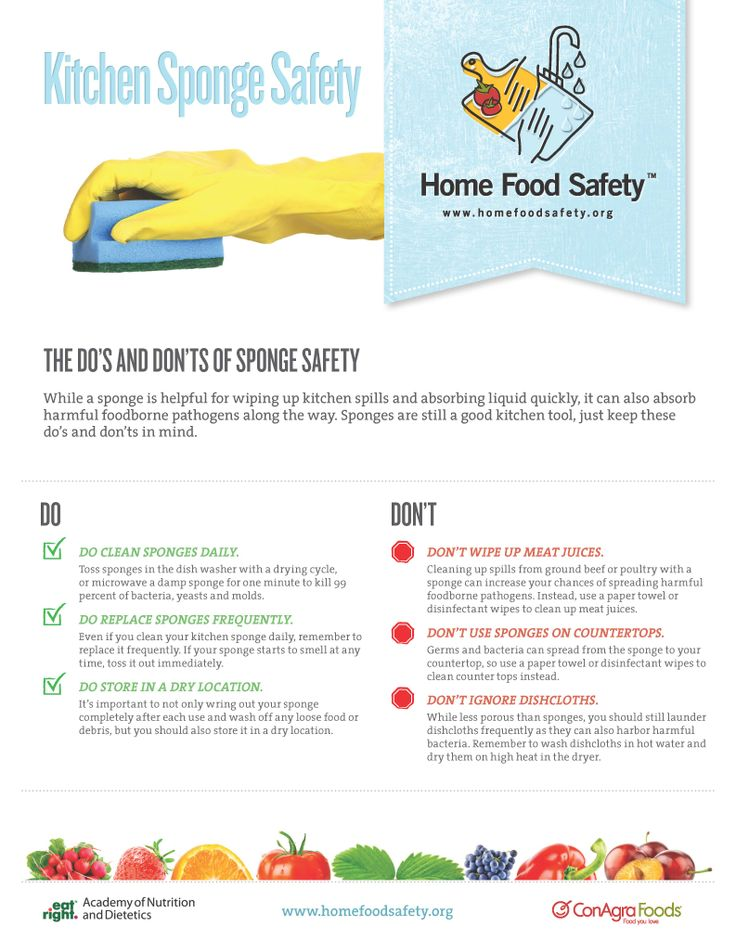 12 best images about food safety on pinterest hong kong food safety tips and hand washing - Seven different uses of the kitchen sponge ...