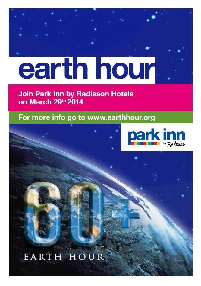 Join our hotels on 29 of March and be a part of #Earthhour. Turn of the lights from 20:30 to 21:30 and make Nature a bit happier.