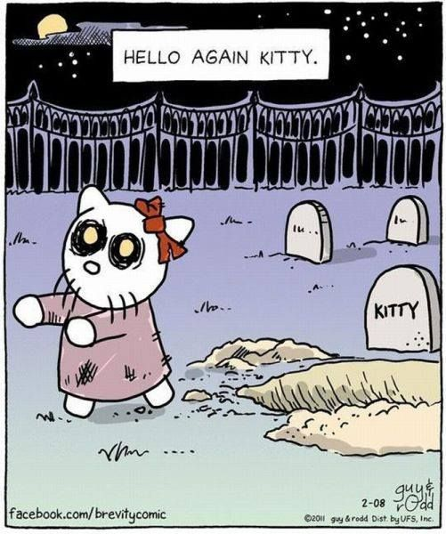 Funny hello again kitty halloween cartoon - http://www.jokideo.com/funny-hello-kitty-halloween-cartoon/