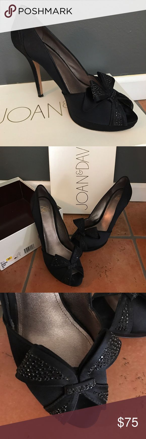 Selling this Joan & David | Daparris Satin Heels 9.5m on Poshmark! My username is: evensenek. #shopmycloset #poshmark #fashion #shopping #style #forsale #Joan & David #Shoes