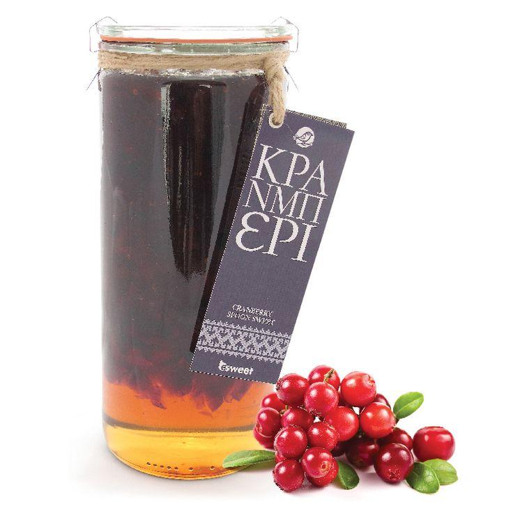 Γλυκό του κουταλιού Κράνμπερι με ελληνικό καρπό. Χωρίς γλουτένη. Σε επώνυμο γυάλινο βάζο ανώτερης ποιότητας, κατάλληλο για οικιακή χρήση. | Cranberry spoon sweet with greek fruit. Gluten free