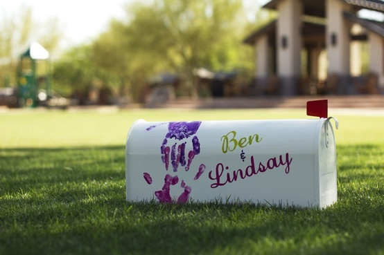 UP Mailbox ♥ for cards at the wedding...then use for your home mailbox! so cute
