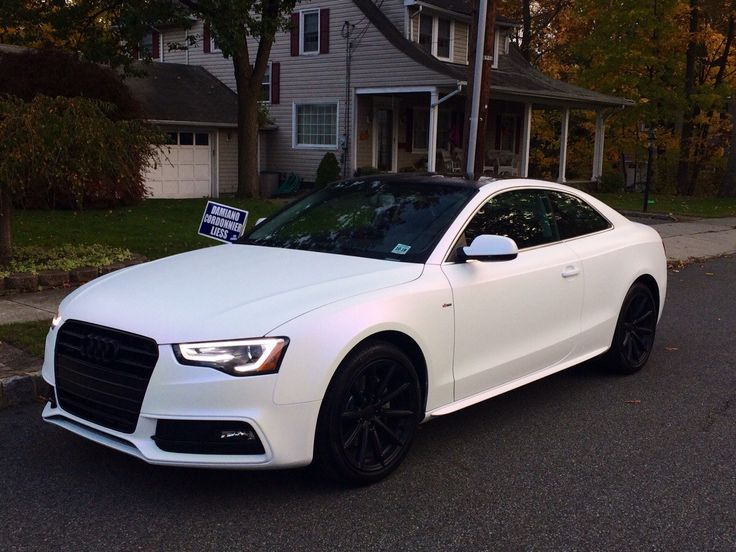 white pearl matte audi rs5 how perfection looks like