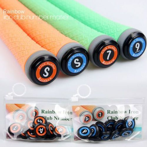 10pcs Rainbow Golf Iron Club Number Marker Display Set 3~9, P, S, AW #Unbranded
