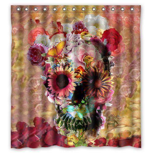 Skull Flower Polyester Fabric Shower Curtain, http://www.amazon.com/dp/B00LM68T04/ref=cm_sw_r_pi_awdm_q1ytub1V895RX