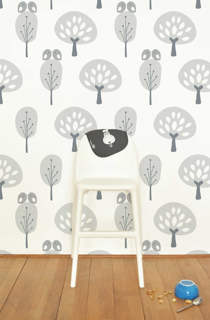 Tiny Little Pads - Interiors for Kids. Adorable Tree Wallpaper #tinylittlepads