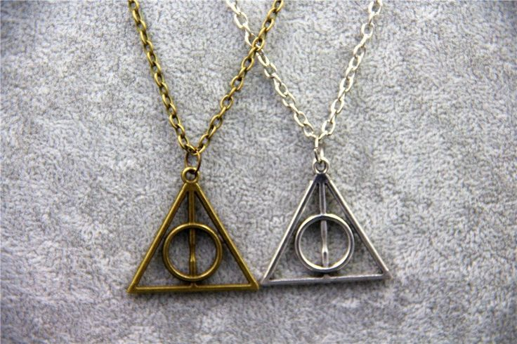 Fashion Jewelry HP Luna Triangle Deathly Hallows Geometric Pendant Necklace