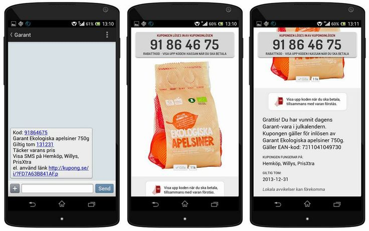 Garant Ekologiska apelsiner gömde sig bakom dagens lucka i Sveriges populäraste julkalender. Dagens kuponger tog slut på 44 sekunder. Ny chans imorgon kl. 14:00 http://apps.facebook.com/garantjulkalender
