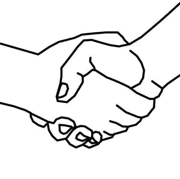 Handshake Coloring Page To Print Manos Entrelazadas Dibujo