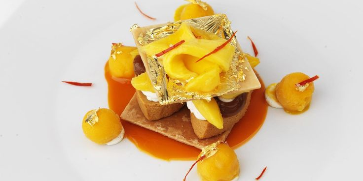 This wondrous caramel mille-feuille recipe from Francis Atkins provides a stunning dessert topped off by crystalised chilli and a gold leaf