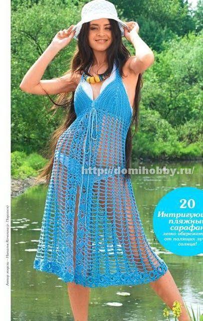 Vestido de praia: Beach Dresses, Category Crochet, Beach Sundress, Crochet Dresses, Crochet Big, Crochet Beach, Crochet Free