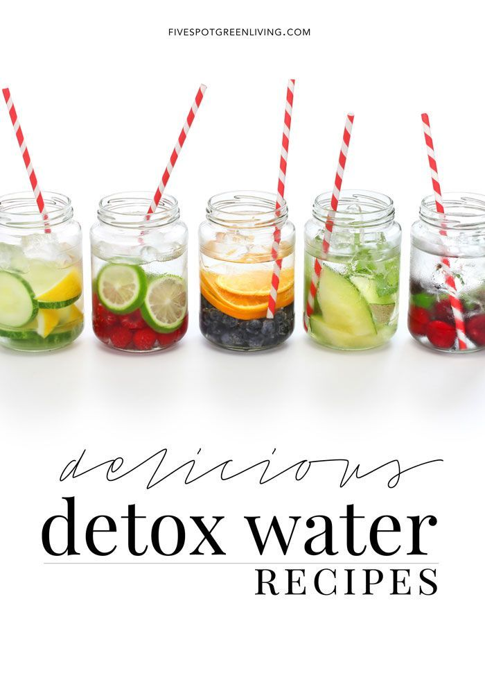 5 Delicious Infused Detox Water Recipes #detoxwater #healthy #weightloss