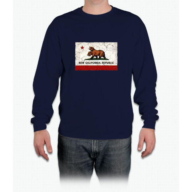 New California Republic Flag Long Sleeve T-Shirt