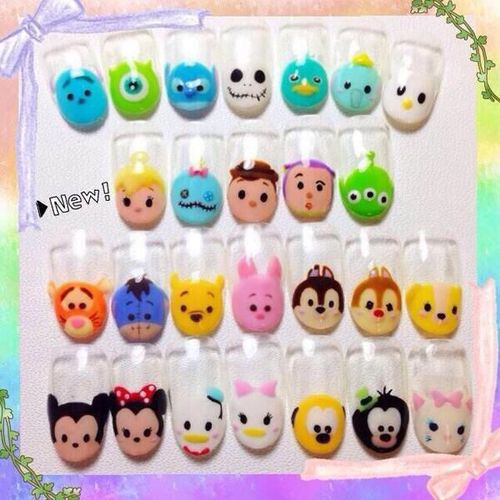 caudiasofia: Tsum Tsum Nail Art on We Heart It – weheartit.com/…
