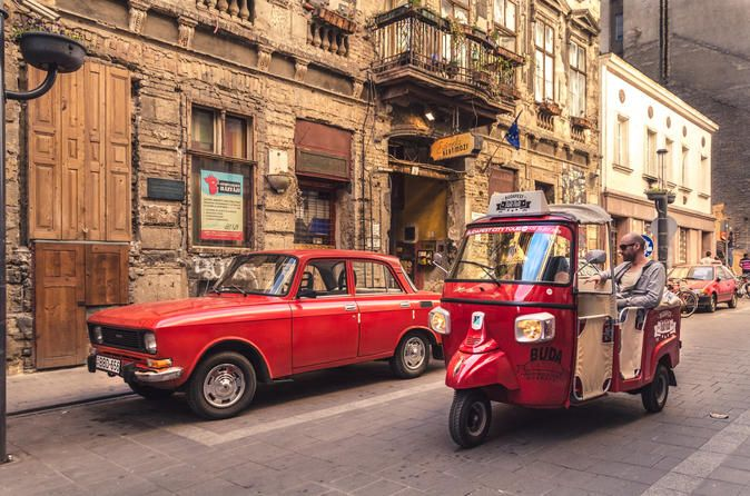Budapest City Tour in a TukTuk Forget the traditional sightseeing and get a lovely experience while you lay back and enjoy the beauties of this marvelous capital. This is a super tour for those who want to see more of the city and while do not want to miss the famous sights. Let's try a special discover to visit all the sights and hidden spots. Tuk Tuk is a new way of seeing, feeling and experiencing the life of Budapest! Enjoy it!This tour is recommended for those who w...