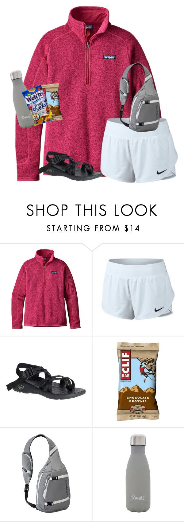 """""""tysm for all the likes on my last set!!"""" by ellienoonan ❤ liked on Polyvore featuring Patagonia, NIKE, Chaco and S'well"""