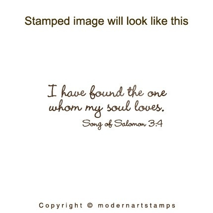 wedding stamp i have found the one whom my soul loves