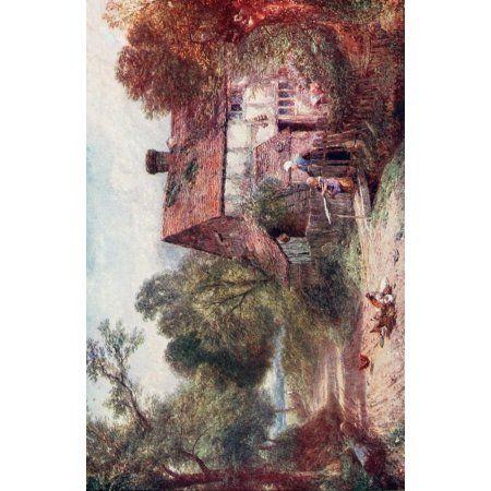 Birket Foster 1910 A Surrey cottage Canvas Art - Miles Birket Foster (18 x 24)