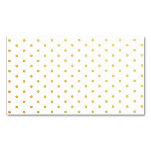 Fashion gold polka dots business card templates #BusinessCard #Design #girly #fashion